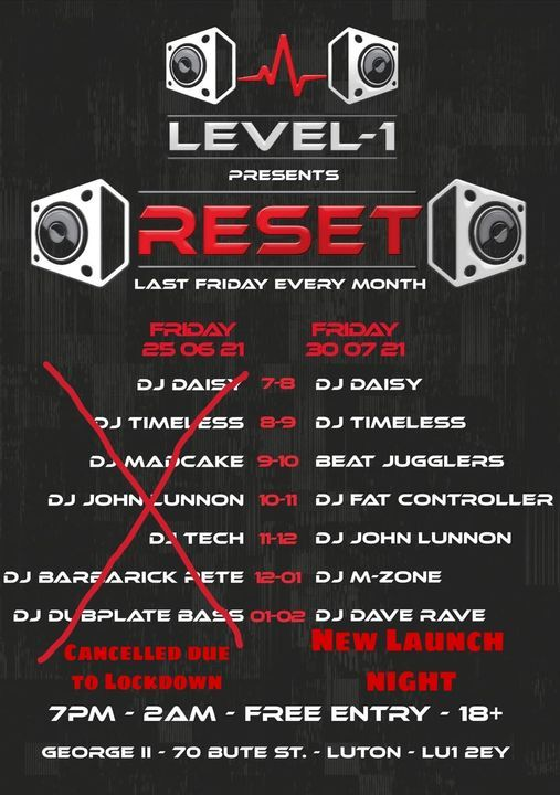 RESET Launch Party, 25 June   Event in Luton   AllEvents.in