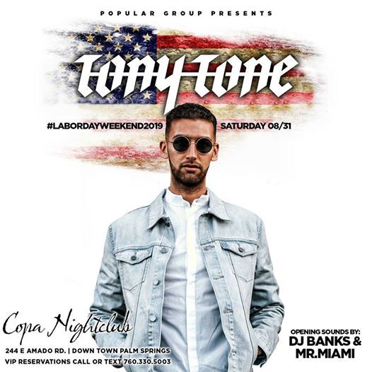Tony Tone Live Copa Nightclub