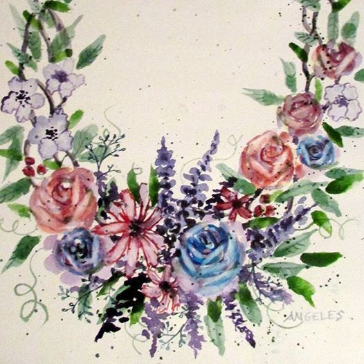 Watercolor Wreaths (ages 16)