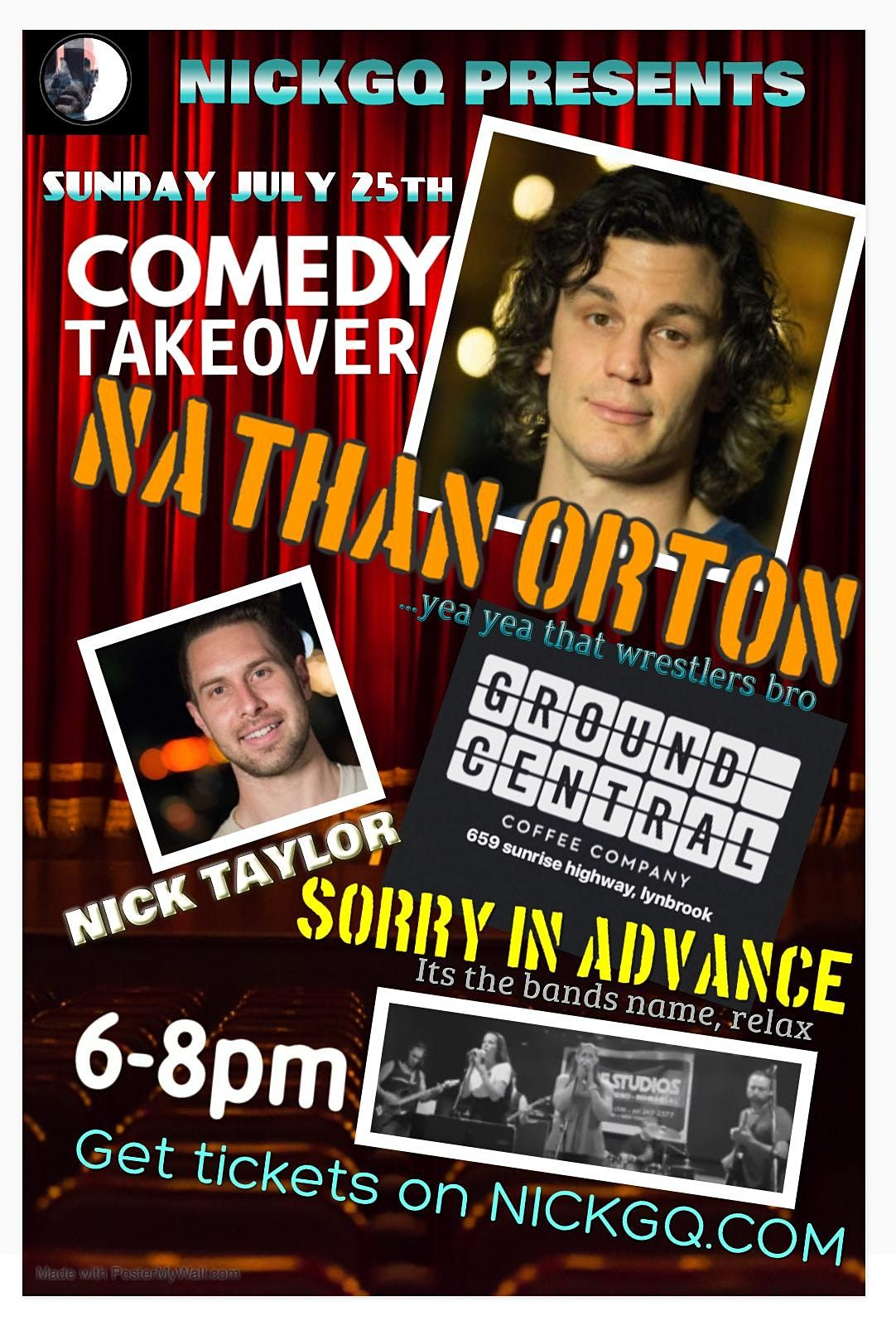 COMEDY TAKEOVER featuring NATHAN ORTON at Lynbrook Ground Central | Event in Lynbrook | AllEvents.in