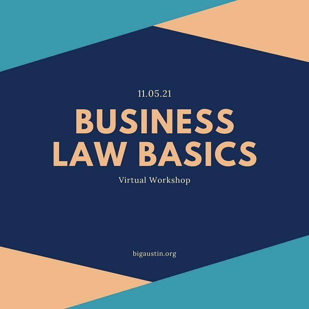 Business Law Basics - VIRTUAL WORKSHOP, 5 November   Event in Austin   AllEvents.in