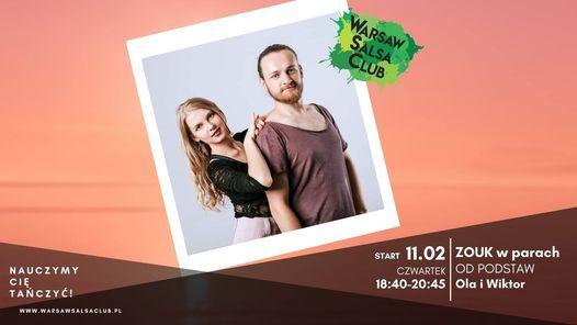 ZOUK w parach od podstaw - Ola i Wiktor - Czwartek 18:40 w WSC | Event in Warsaw | AllEvents.in