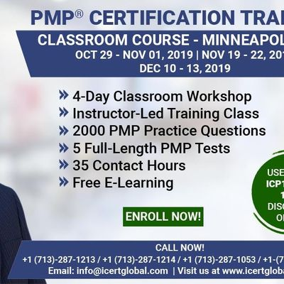 PMP Certification Training Course in Minneapolis MN USA  4-Day PMP Boot Camp with PMI Membership and PMP Exam Fees Included