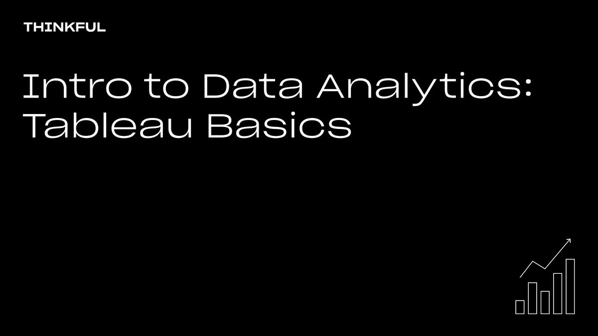 Thinkful Webinar    Intro To Data Analytics: Tableau Basics, 27 September   Event in Detroit   AllEvents.in