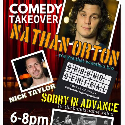 COMEDY TAKEOVER featuring NATHAN ORTON at Lynbrook Ground Central