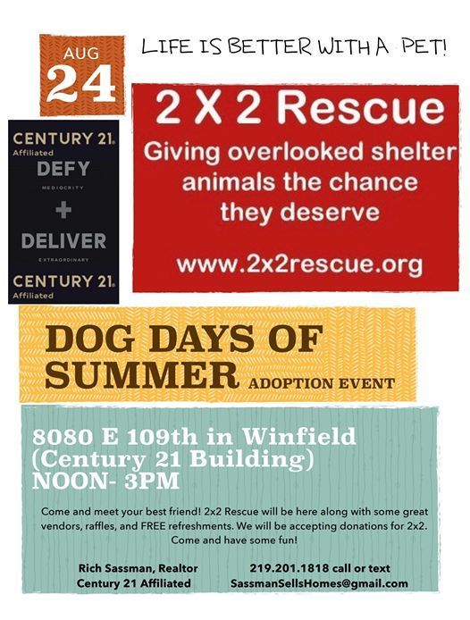 Dog Days Of Summer at CENTURY 21 Affiliated, Crown Point