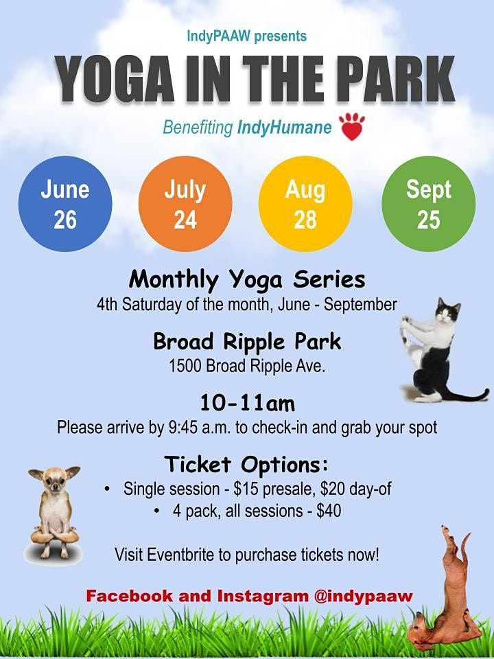 Yoga in the Park Series Benefiting IndyHumane | Event in Indianapolis | AllEvents.in