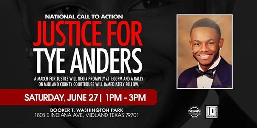 National Call to Action - Justice For Tye Anders