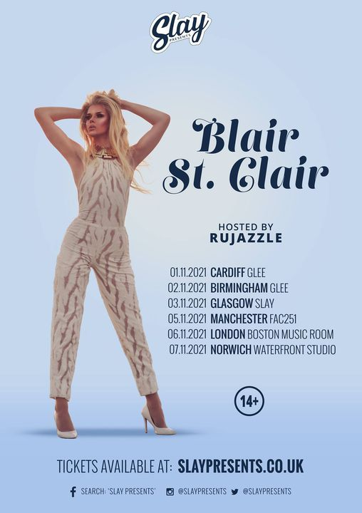 Blair St. Clair - 7th November 2021 - Norwich [14+], 7 November | Event in Norwich | AllEvents.in
