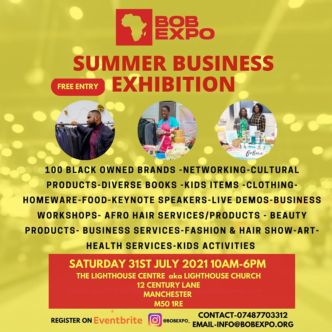 Black owned Business Exhibition, 31 July   Event in Manchester   AllEvents.in