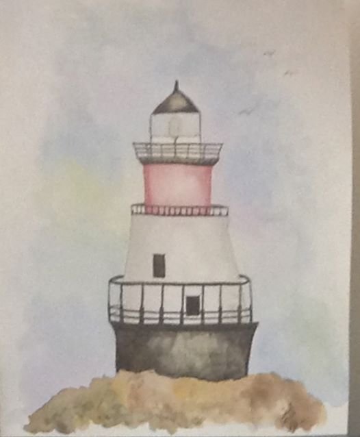 Lighthouse Watercolor Painting at Created Purpose, Tiverton