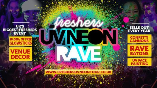Bath Freshers UV Neon Rave | Bath Freshers 2020, 31 January | Event in Bath | AllEvents.in