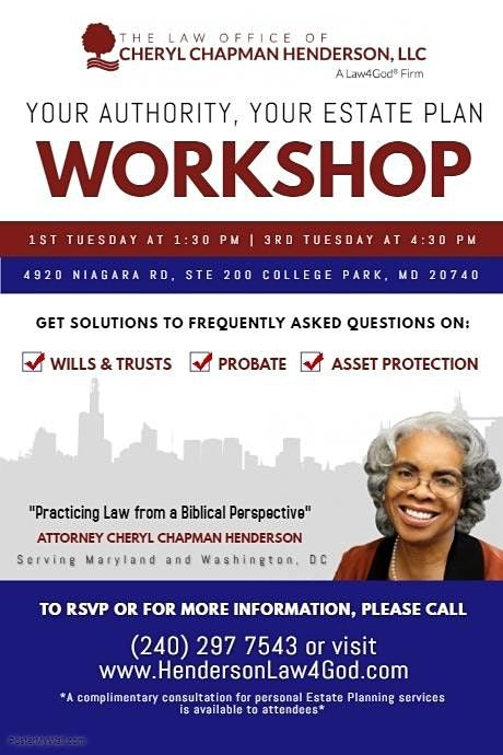 Your Authority, Your Estate Plan Workshop | Online Event | AllEvents.in