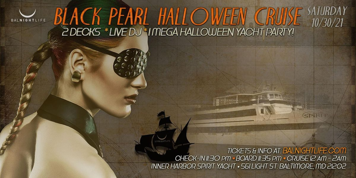Baltimore Halloween - The Black Pearl Yacht Party, 30 October | Event in Baltimore | AllEvents.in