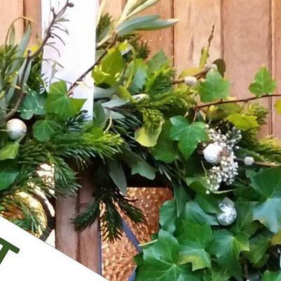 Gardening Lady Christmas Wreath Making Workshop 2