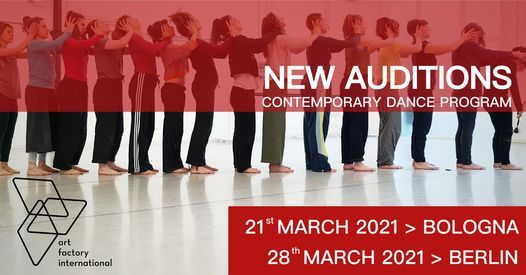 A.F.I. XII AUDITIONS - BOLOGNA | BERLIN, 21 March | Event in Bologna | AllEvents.in