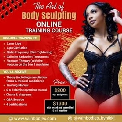 Art of Body Sculpting Online Training Class - Newark