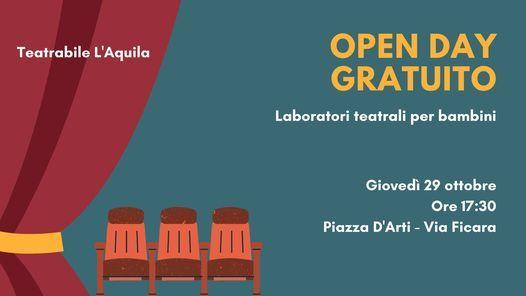 Open Day GRATUITO Teatro Bimbi, 29 October | Event in L'aquila | AllEvents.in