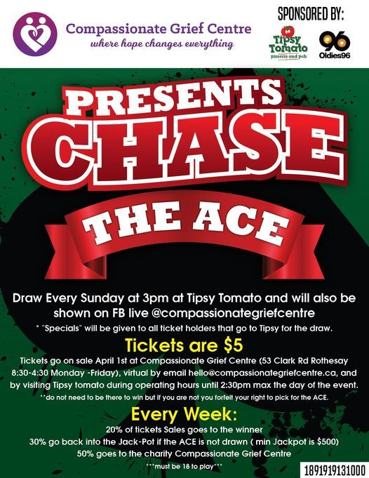 Compassionate Grief Centre Presents Chase the ACE-Sponsored by Tipsy Tomato and Oldies 96, 9 May | AllEvents.in
