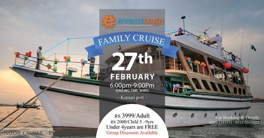 A Perfect Family Dinner Cruise in Pakistan, 27 February | Event in Karachi | AllEvents.in