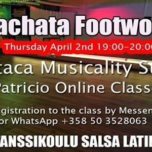Online Bachata Footwork Ataca Musicality Style