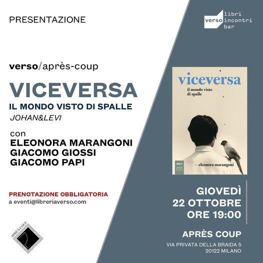 ANNULLATO | Viceversa. Il mondo visto di spalle, 22 October | Event in Assago | AllEvents.in