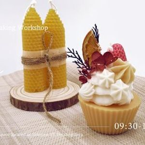 Cupcakes Dessert Soy Wax Candle and Beewax Candle Making Workshop