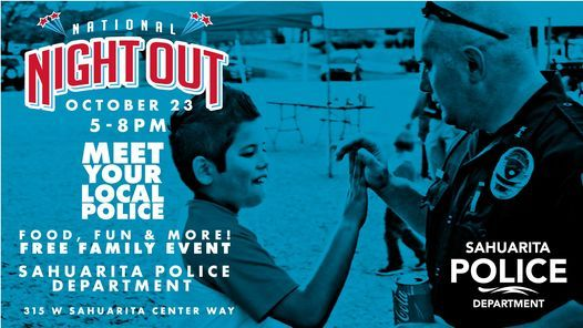 National Night Out - Meet Your Local Police!, 23 October | Event in Sahuarita | AllEvents.in