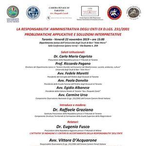 La responsabilit amministrativa degli Enti ex D.Lgs 2312001