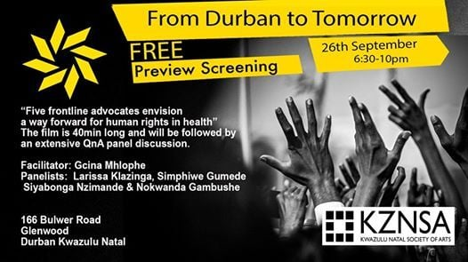 From Durban to Tomorrow KZN Screening