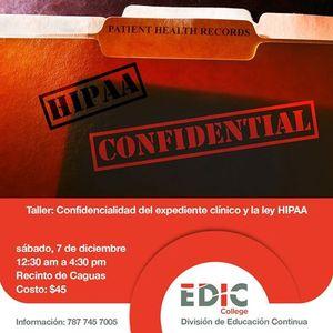Confidencialidad del Expediente Clnico y la Ley HIPAA