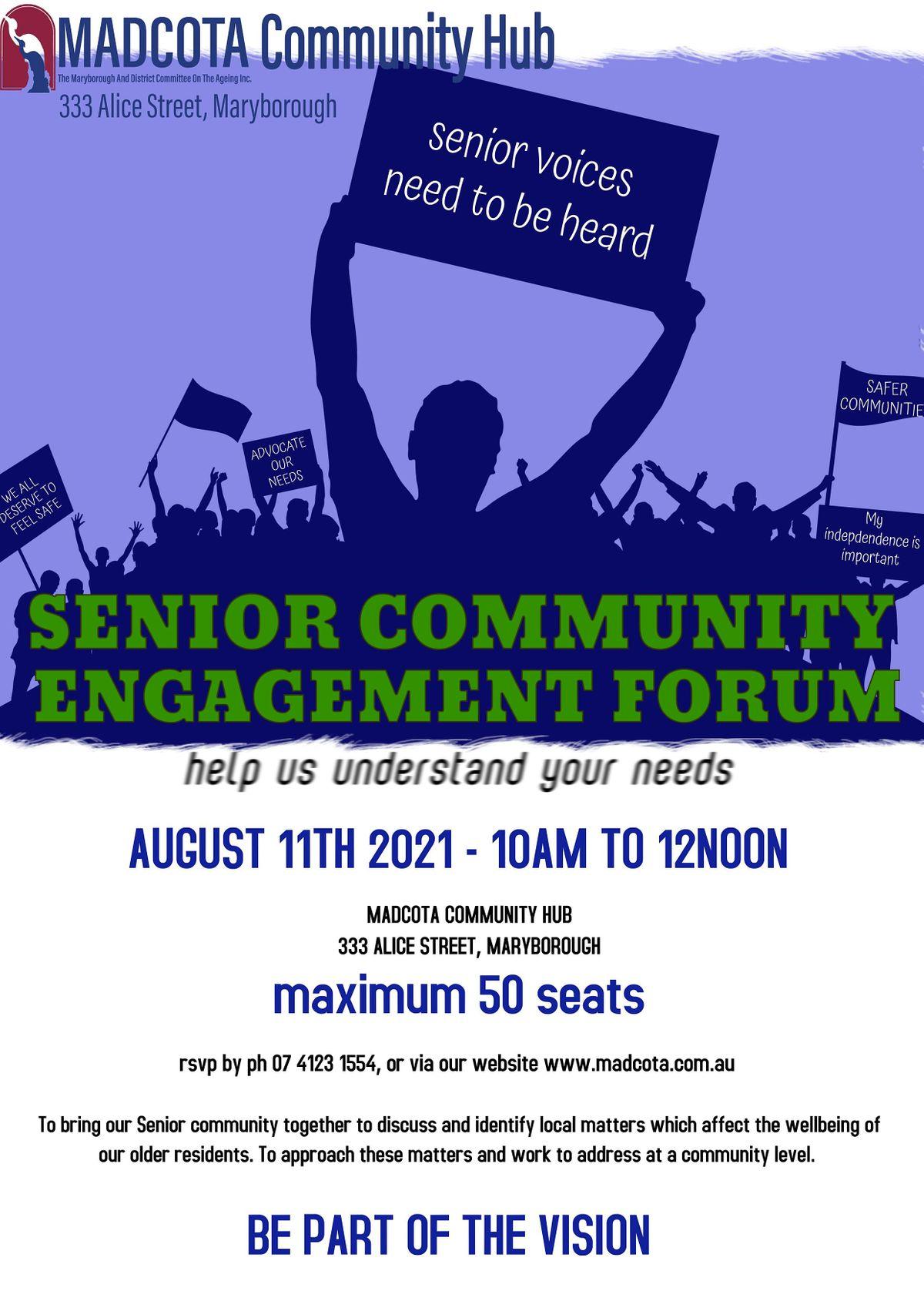 Senior Community Engagement Forum   Event in Maryborough   AllEvents.in
