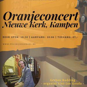 Oranjeconcert Gerben Budding  Nieuwe Kerk Kampen