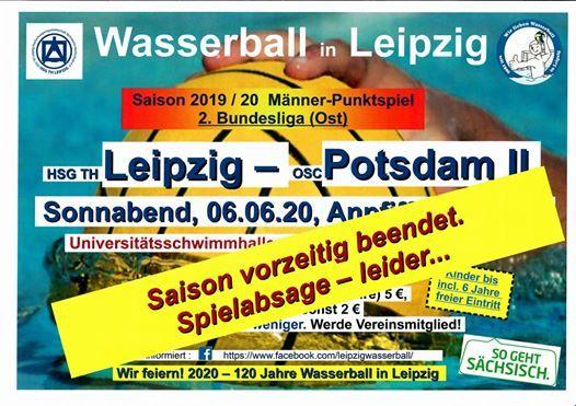 Wasserball Punktspiel Leipzig vs Potsdam II Mnner