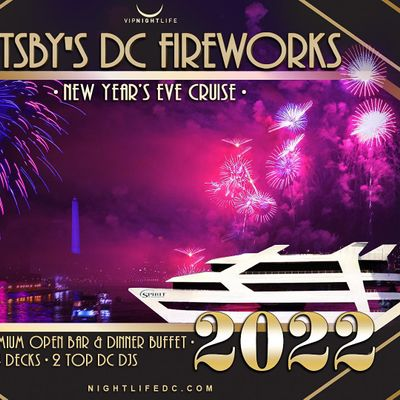 Gatsbys DC Fireworks New Years Eve Yacht Party 2022