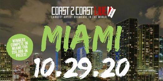 Coast 2 Coast LIVE Showcase Miami - Artists Win $50K In Prizes, 29 October   Event in Miami Beach   AllEvents.in