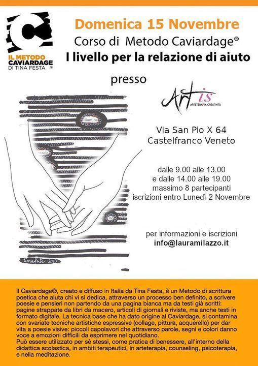 Corso metodo Caviardage® I° Livello relazione di aiuto, 15 November | Event in Castelfranco Veneto | AllEvents.in