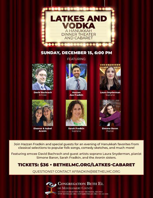 Latkes and Vodka A Hanukkah Dinner Theater and Cabaret