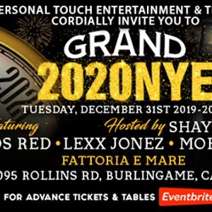 Grand 2020 New Years Eve at The New Fattoria e Mare Burlingame