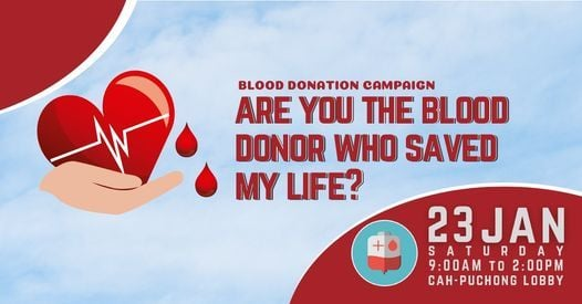 Blood Donation Drive, 23 January | Event in Puchong | AllEvents.in