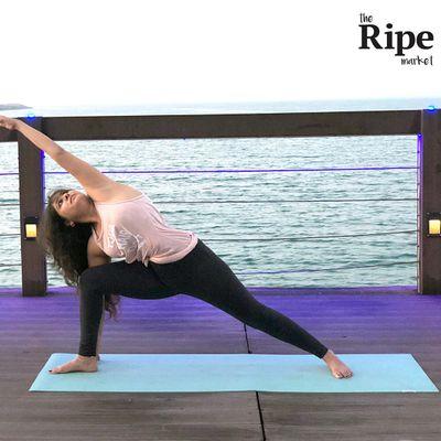 A yoga class at Ripe Market