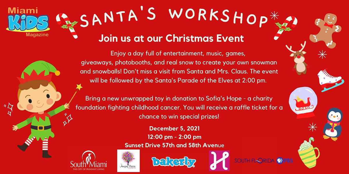 Santa's Workshop with Miami Kids Magazine!, 5 December   Event in South Miami   AllEvents.in
