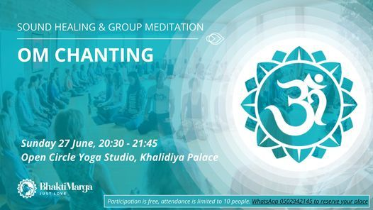 OM Chanting at the Open Circle Yoga Studio, 27 June   Event in Abu Dhabi   AllEvents.in
