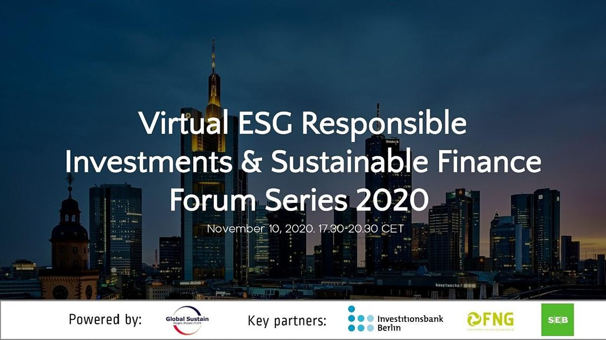 5th Virtual ESG Investments & Sustainable Finance Forum Berlin 2020, 10 November | Online Event | AllEvents.in