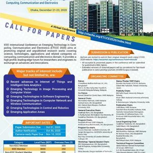 IEEE ETCCE 2020 International Conference