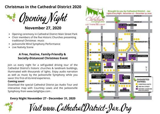 Christmas In The Cathedral District 2020, 201 E Beaver St