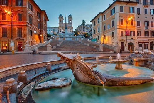 Le Piazze e le fontane pi celebri di Roma
