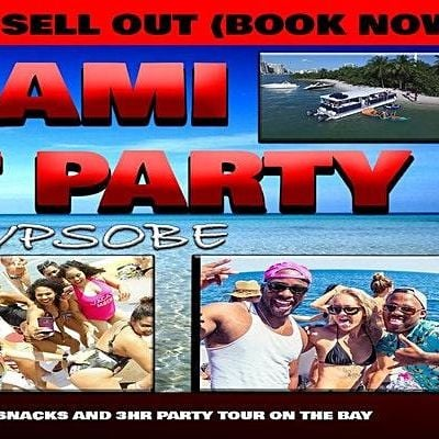 Miami Nightclub on a boat (first 50 people only) WILL SELL OUT EARLY RSV