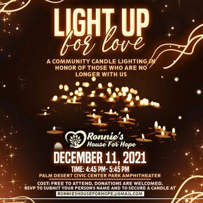 Light Up For Love Community Candlelight Vigil