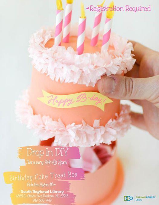 Amazing Drop In Diy Birthday Cake Treat Box Ages18 At South Regional Funny Birthday Cards Online Elaedamsfinfo